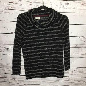 Lou & Grey cowl neck black sweater